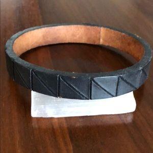 Lauren Manoogian black leather cuff